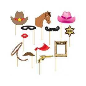 Kit accessoires pour photo de soirée Western