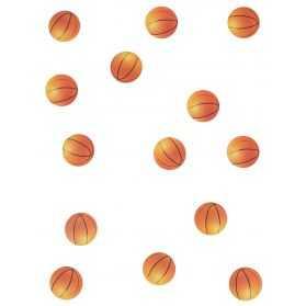 Confettis de table en forme de ballon de basket