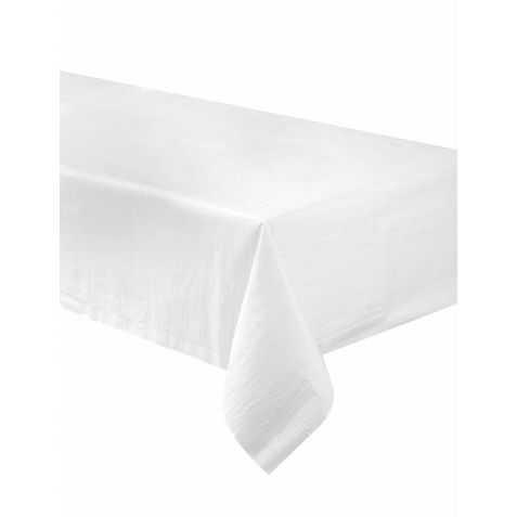 Nappe en papier rectangulaire blanche