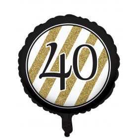 Ballon 40 ans noir et or