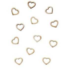 Confettis de table en forme de cœur
