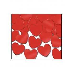 Confettis de table en forme de cœur rouge