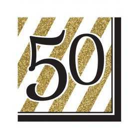 Serviettes papier anniversaire 50 ans