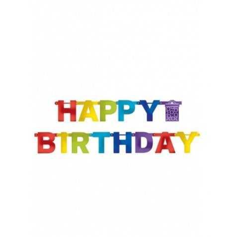 Guirlande Happy Birthday en carton