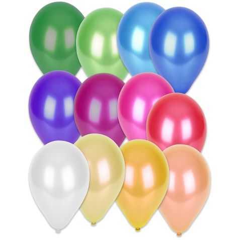 Ballons gonflables métallisés multicolores