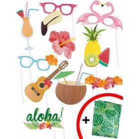 Accessoires Photobooth soirée thème Hawaï