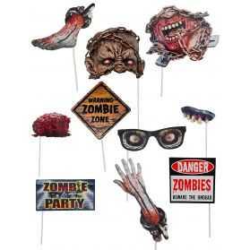 Accessoires Photobooth soirée Zombie