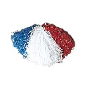 1 Pom-pom en raphia nylon nylon Bleu Blanc Rouge