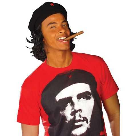 Béret révolutionnaire cubain avec cheveux
