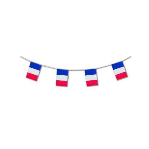 Guirlande à fanions drapeaux français