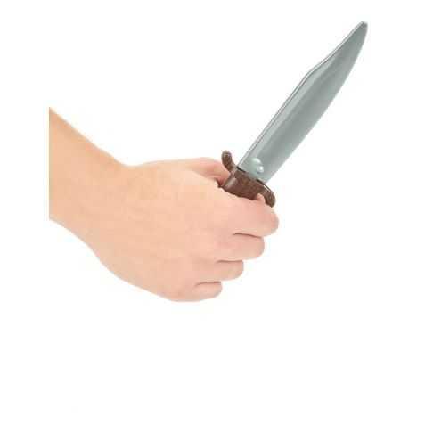 Coutelas Indien avec fourreau suédine