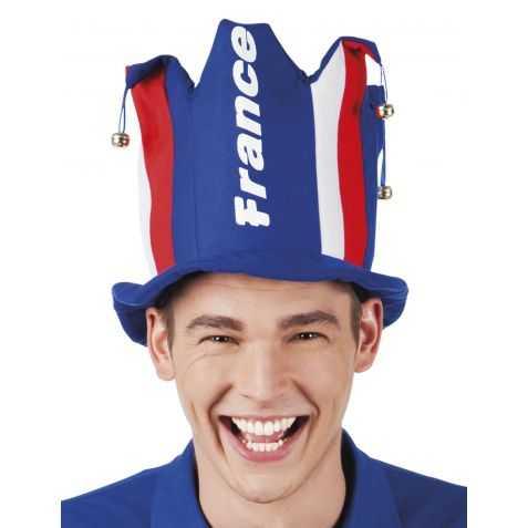 Chapeau Haut de forme supporter des Bleus
