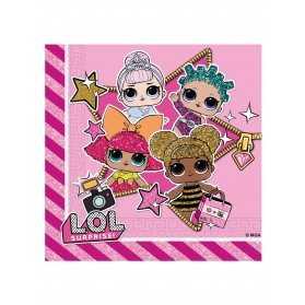 Serviettes en papier anniversaire poupées LOL