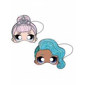 Masques en carton poupées LOL