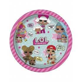 Assiettes en carton poupées LOL
