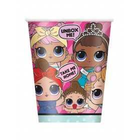 Grands gobelets en carton poupées LOL