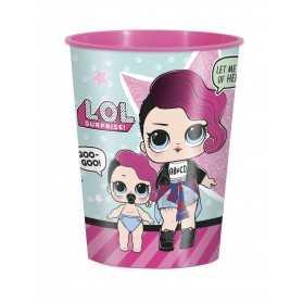 1 Grand gobelet en plastique poupées LOL
