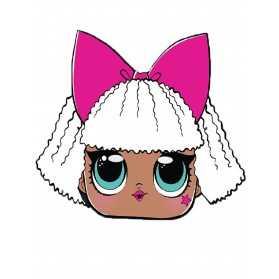 Masque en carton poupée LOL Diva