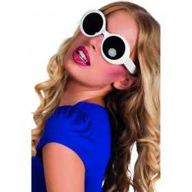 Lunettes disco blanches adulte