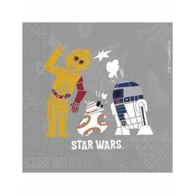 20 Serviettes en papier Star Wars Forces 33 x 33 cm
