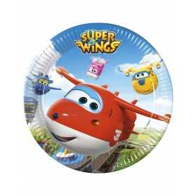 8 Assiettesen carton 23cm Super Wings