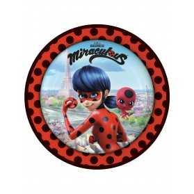 8 Assiettes en carton Ladybug à Paris 23 cm