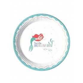 8 Assiettes en carton premium Ariel 23 cm
