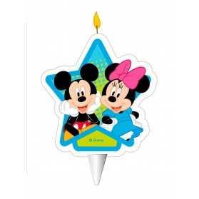 Bougie d'anniversaire Mickey et Minnie 7,5 cm