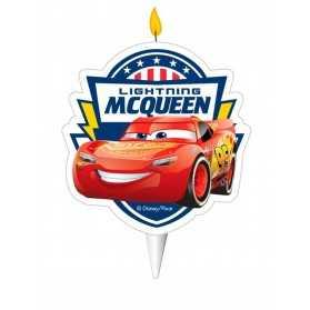 Bougie d'anniversaire Cars 2D 7,5 cm