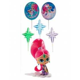 Kit de décoration Shimmer and Shine 8 cm
