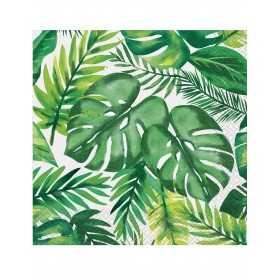 16 Serviettes en papier Palm Tropical Luau 33 x 33 cm