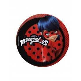 8 Petites assiettes en carton Ladybug19 cm