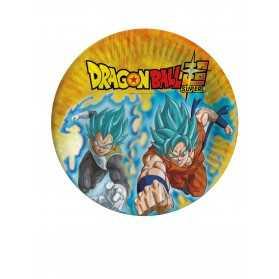 8 Assiettes en carton Dragon Ball Super 23 cm
