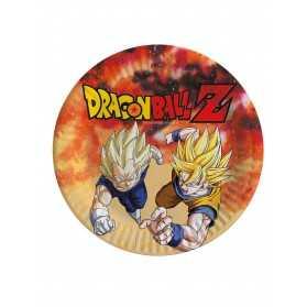 8 Assiettes en carton Dragon Ball Z 23 cm