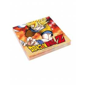 20 Serviettes en papier Dragon Ball Z 33 x 33 cm