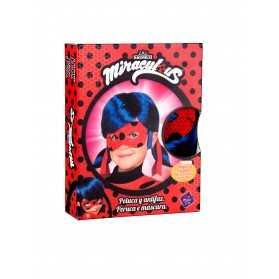 Coffret perruque et masque Ladybug enfant