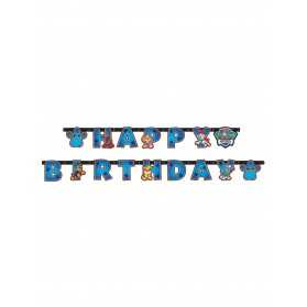 Guirlande Happy Birthday Pat'Patrouille 15 cm x 2 m