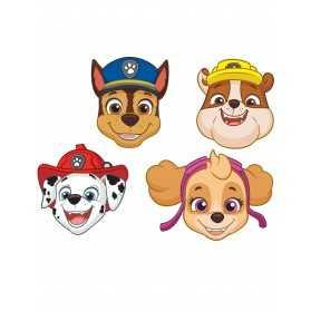 8 Masques en carton Pat' Patrouille
