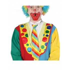 Cravate clown rayée multicolore adulte