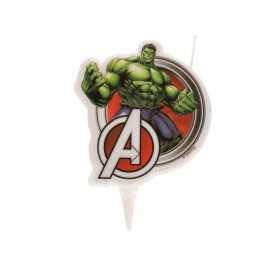 Bougie d'anniversaire Hulk Avengers 7,5 cm