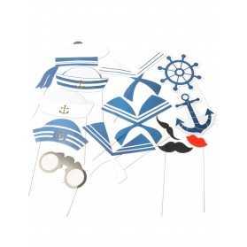 Kit photobooth marin 13 accessoires