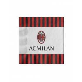 20 Serviettes en papier AC Milan 33 x 33 cm