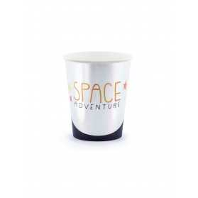 6 Gobelets en carton space adventure 200 ml