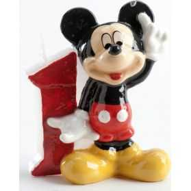 Bougie anniversaire 1 an Mickey