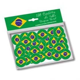 Confettis de table drapeau Brésil
