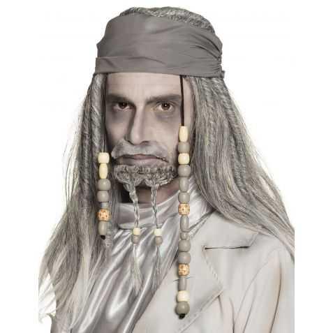 Perruque déguisement Pirates avec perles