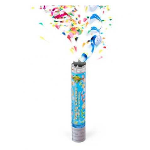 Canon de confettis et serpentins multicolores