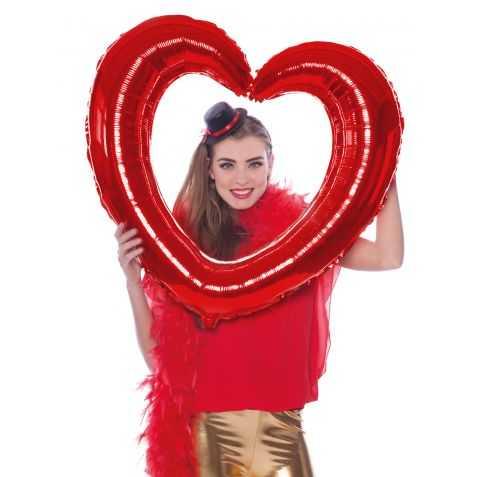 Ballon rouge en forme de coeur géant