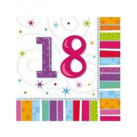 Serviettes en papier anniversaire par âge adulte
