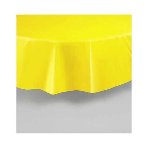 Nappe ronde jaune en plastique